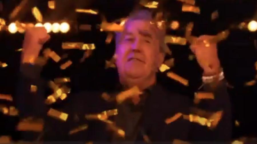 Millionaire winner - Jeremy Clarkson celebrates