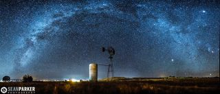 Milky Way Over Old Windmill by Sean Parker