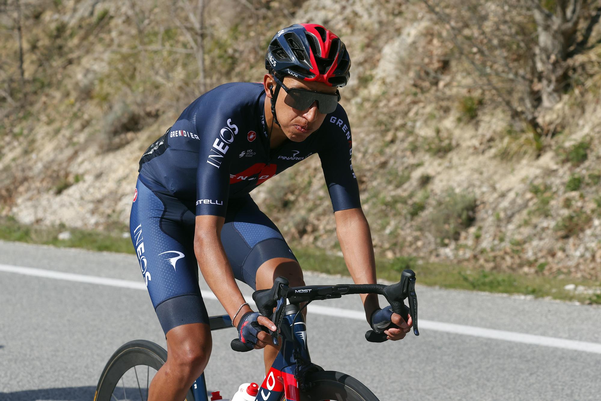 Tirreno Adriatico 2021 - 56th Edition - 4th stage Terni - Prati di Tivo 148km - 13/03/2021 - Egan Bernal (COL - Ineos Grenadiers) - photo Luca Bettini/BettiniPhoto©2021