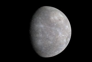 Color differences on Mercury are subtle, but they reveal important information about the nature of the planet's surface material. A number of bright spots with a bluish tinge are visible in this image taken by MESSENGER on Jan. 14, 2008, which is a mosaic