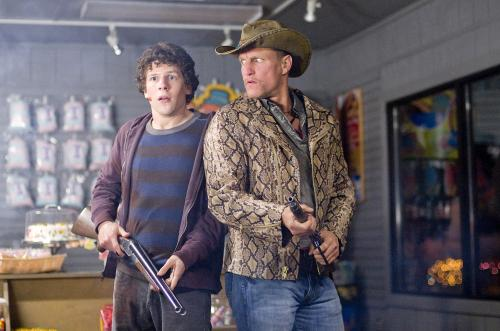Zombieland - Jesse Eisenberg & Woody Harrelson star in this road-movie horror comedy