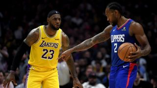 clippers vs lakers live stream in los angeles lebron james Kawhi Leonard