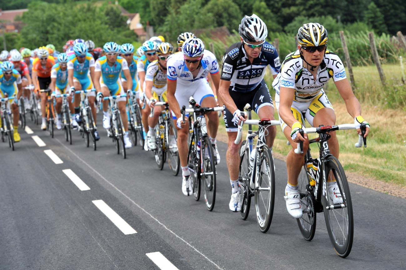 HTC-Columbia chase, Tour de France 2010, stage 6