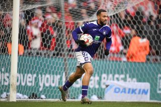 Kemar Roofe playing for Anderlecht