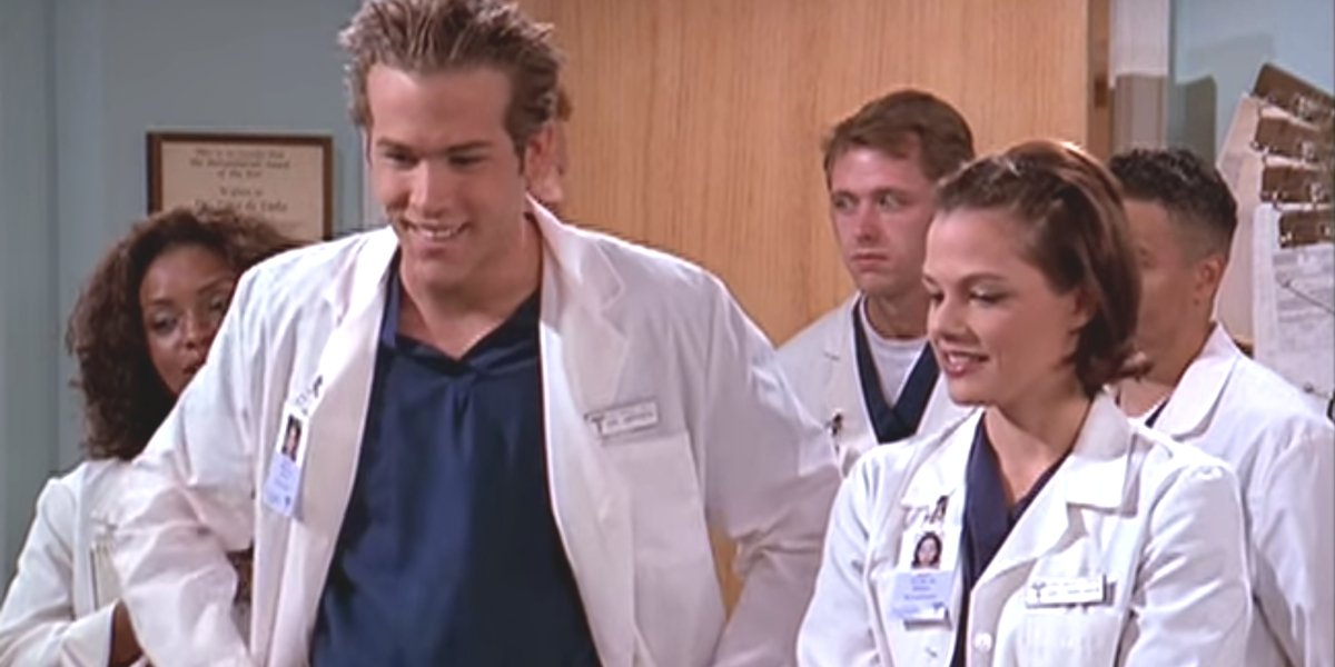 """Michael """"Berg"""" Bergen cutting up in a hospital on Two Guys, A Girl And A Pizza Place"""