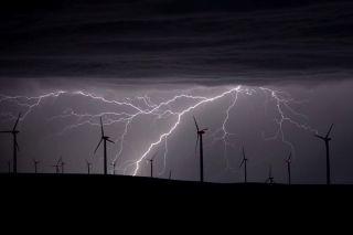 lightning over oregon