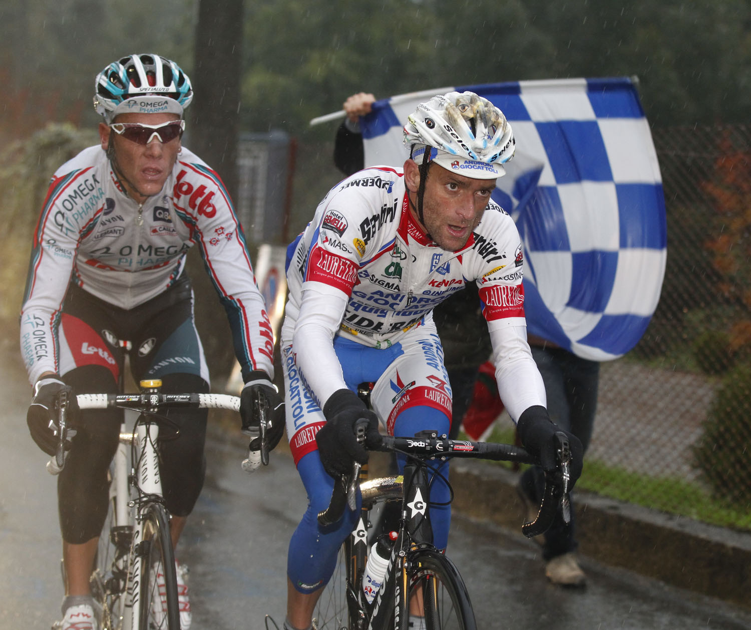 Michele Scarponi and Philippe Gilbert, Tour of Lombardy 2010