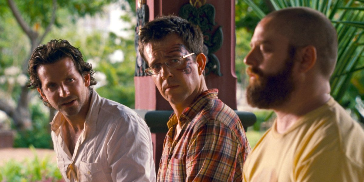 Bradley Cooper, Ed Helms, and Zach Galifianakis in The Hangover Part II