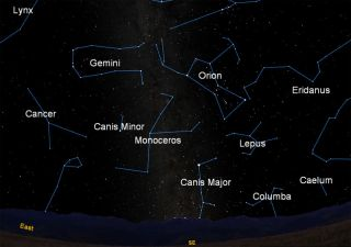 december sky constellations