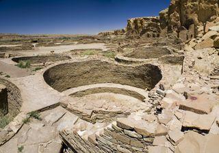 Ancient Ruins at Chaco Canyon, New Mexico.