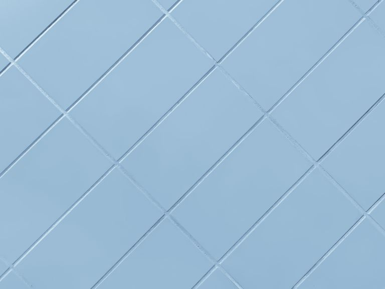 Blue tiles with blue grouting