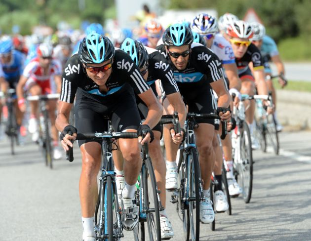 Danny Pate and Sky, Vuelta a Espana 2012, stage 10