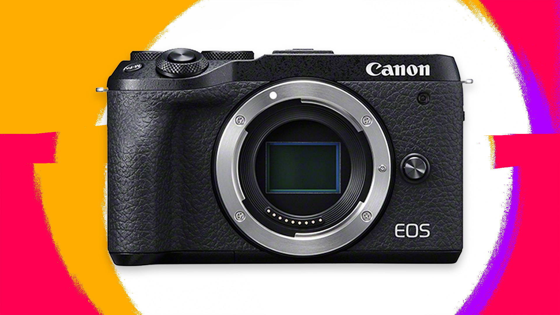 The Canon EOS M6 Mark II mirrorless camera without a lens