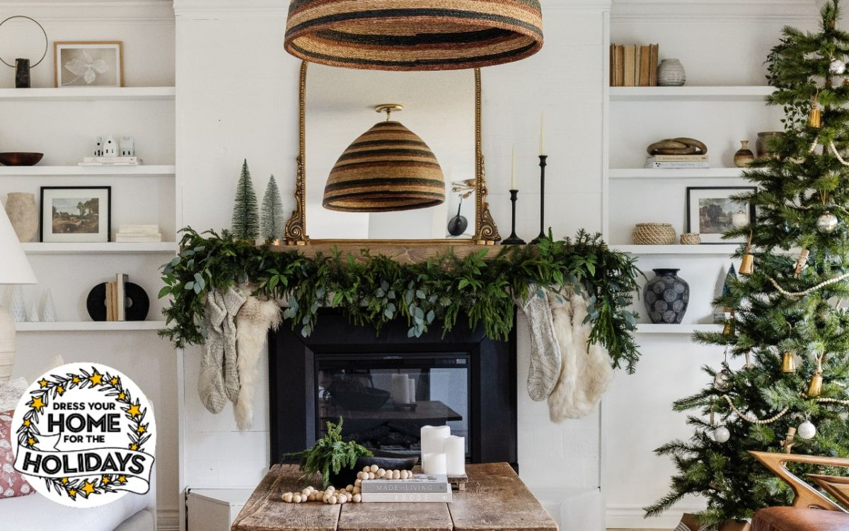 This blogger's stunning modern-rustic Christmas decor is holiday home goals