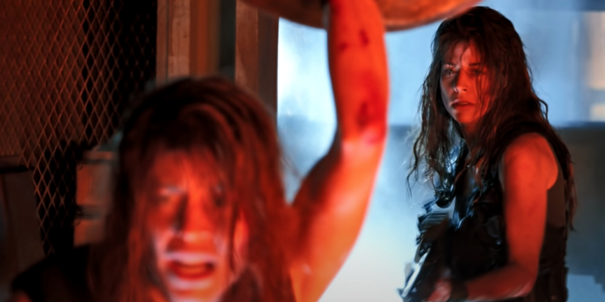 Leslie Hamilton and Linda Hamilton in Terminator 2: Judgment Day