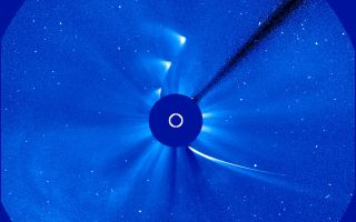Comet ISON Nov. 28 Time-Lapse with Sun 1920