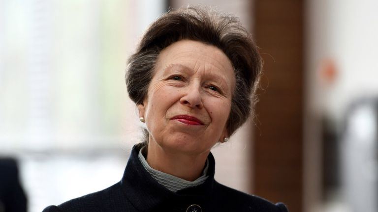 Princess Anne, Princess Royal officially opens the UK Hydrographic Office headquarters on April 25, 2019 in Taunton, England