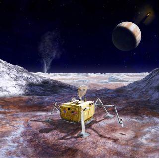 NASA's Europa Lander: Artist's Concept
