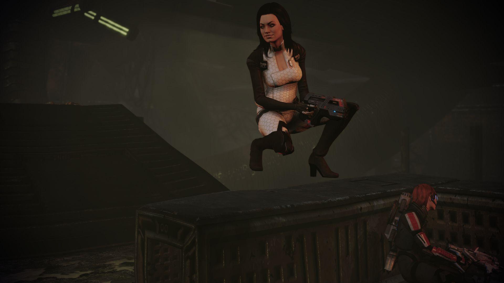 Miranda floats above cover