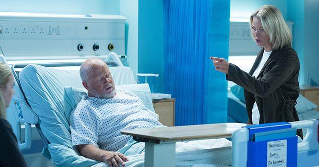 Phil Mitchell, hospital