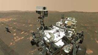 NASA Perseverance rover taking a selfie on Mars