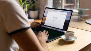 Google Chrome on a Laptop