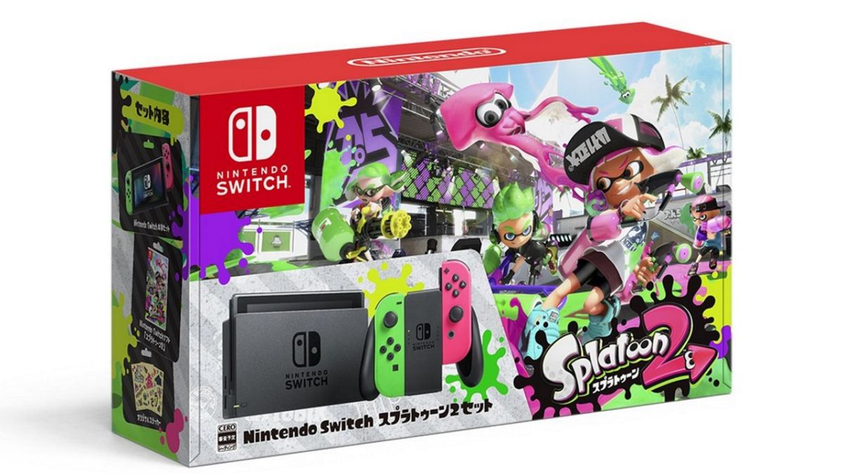 Splatoon 2 Switch bundle gets colorful with pink and green Joy-Cons - but the real beauty is the separate Pro controller
