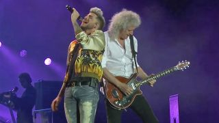 Lambert and Queen performing in Lisbon, May 2016