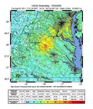 Virginia Shake Map