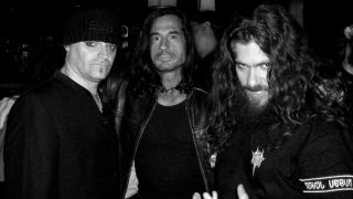 The original Celtic Frost lineup in 2006, with Ain, right