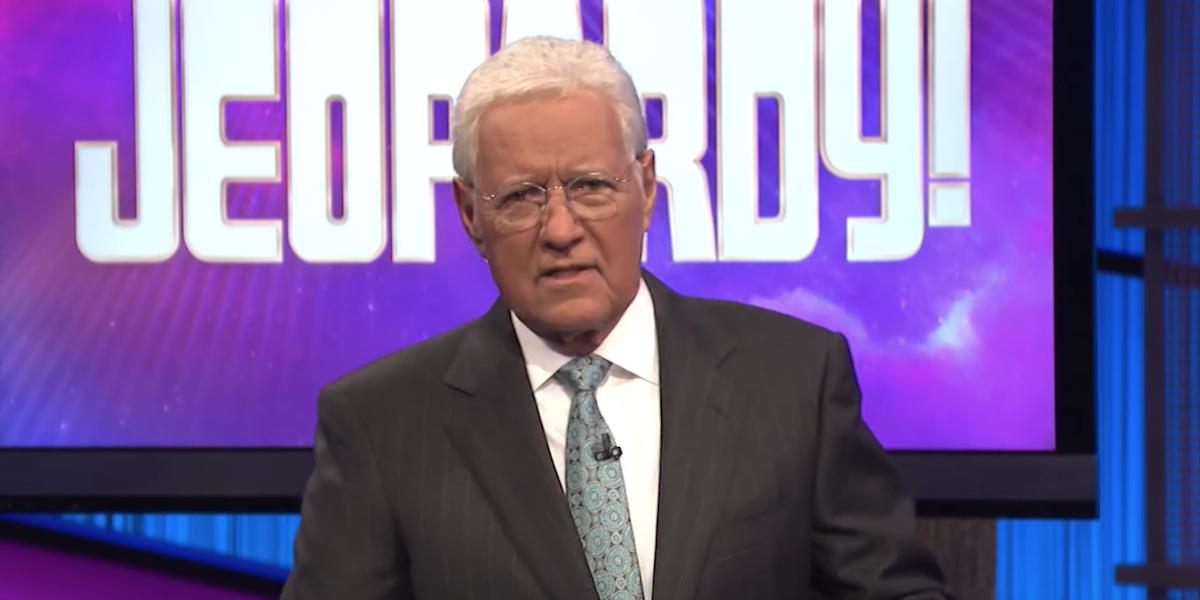 alex trebek hosting jeopardy