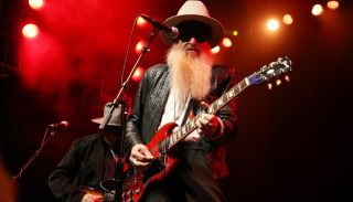 Billy Gibbons performs live at the Gibson NAMM Jam in 2020
