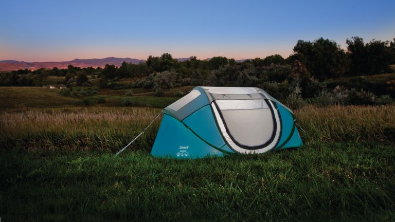 best popup tent: Coleman Galiano 2 FastPitch pop up tent