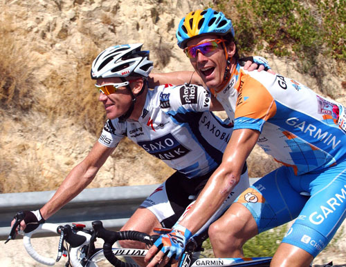 David Millar and Stuart O'Grady, Vuelta a Espana 2009, stage 11
