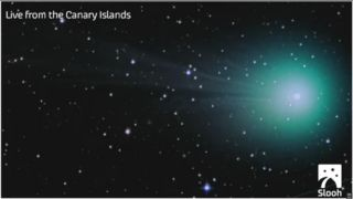 The Slooh Community Observatory's telescope in the Canary Islands captured this view of Comet Lovejoy on Jan. 29, 2015.