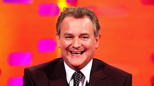 A picture of Hugh Bonneville on a talk show