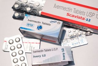 Image of ivermectin tablets. In the U.S., prescriptions for ivermectin have increased 24-fold in recent weeks, compared with pre-pandemic levels, according to the CDC.