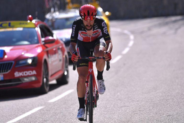 Thomas De Gendt going solo up La Colmiane on stage 7 of 2020 Paris-Nice
