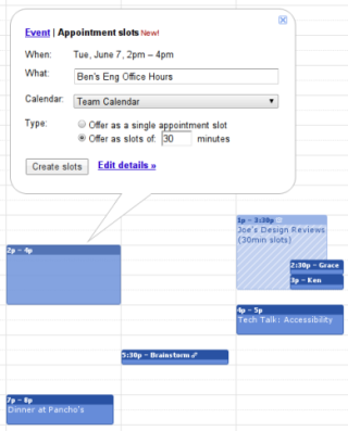 Utilizing Appointment Slots in Google Calendar