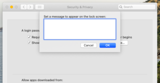 How to change the text on your macOS lock screen