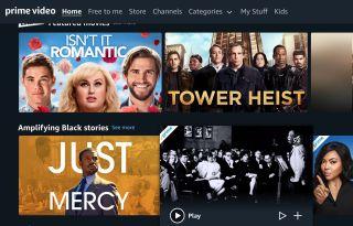 Amazon Prime Video's user interface