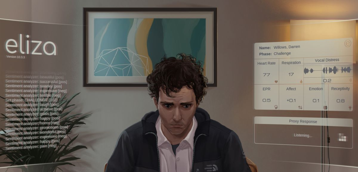 Visual novel Eliza explores the privacy risks of digital therapy