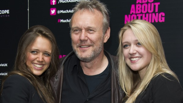 Anthony Head with daughters Daisy and Emily