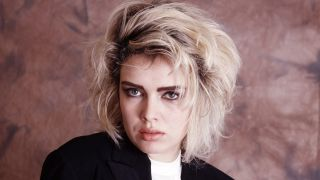 A portrait of Kim Wilde in the 80s