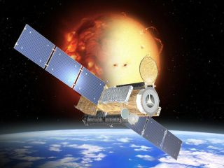 Artist's view of Japan's Hinode satellite