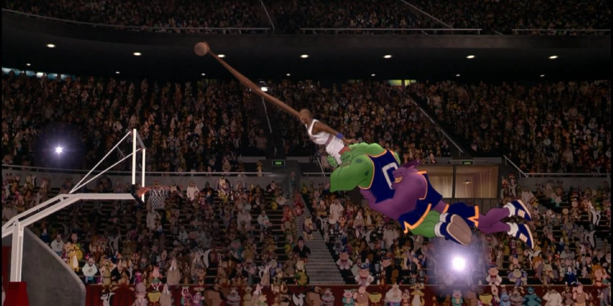 Michael Jordan's long arm in Space Jam