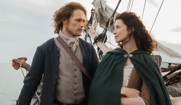 outlander jamie and claire on boat season 3