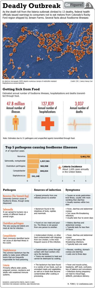 GoFigure today breaks down the statistics on listeria and other deadly bacteria in our food.