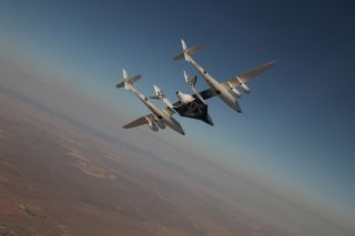 Virgin Galactic's Private Spaceship Makes First Crewed Flight