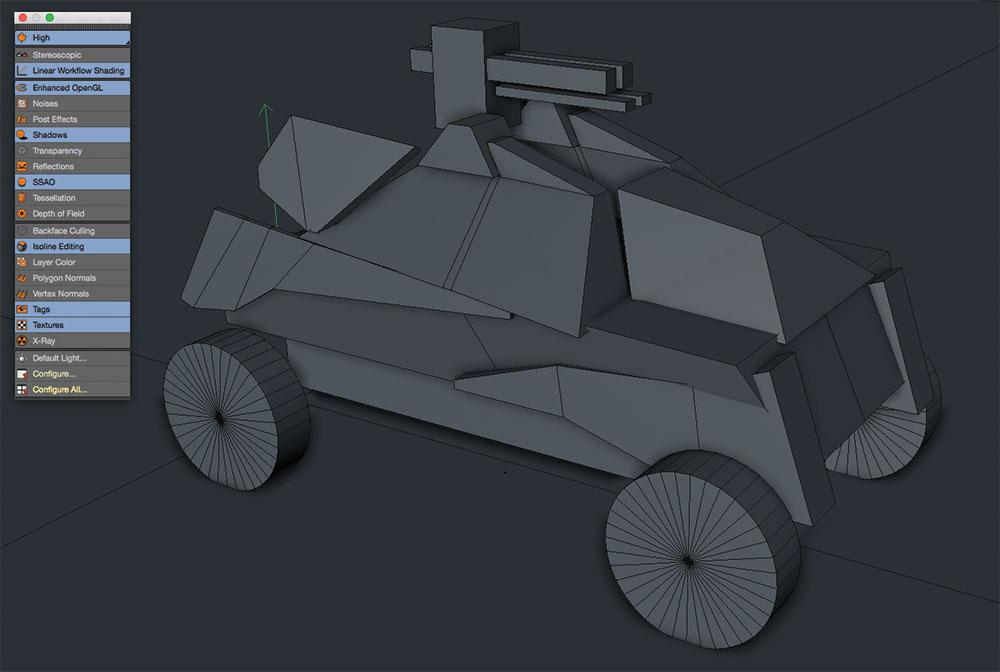 geometry vehicle Cinema 4D